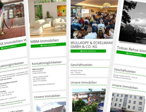 Immopark Firmenseite – Wie man sich als Makler präsentiert